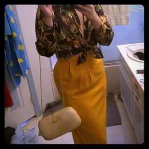 Vintage Mustard JH Collectibles pencil skirt.